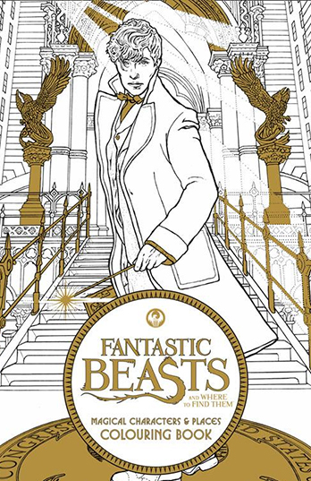 Fantastic Beasts And Where To Find Them Magical Characters Places Colouring Book