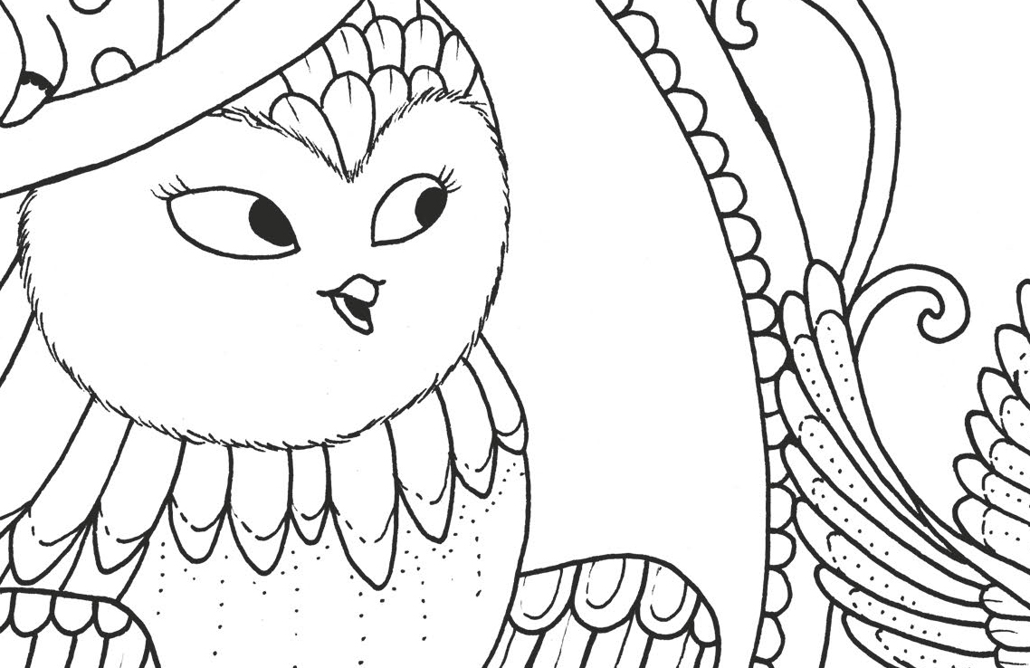 A Million Owls Fine Feathered Friends To Colour Free