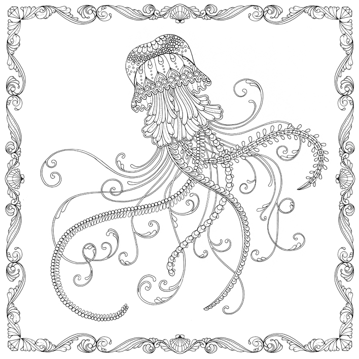 Johanna Basford Lost Ocean Free Jellyfish Pattern Download