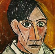 A Cubist Self Portrait by Pablo Picasso
