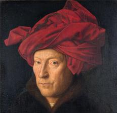 Portrait of a Man in a Turban by Jan van Eyck