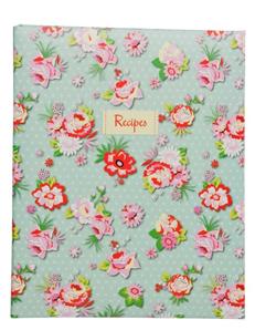Vintage Rose & Polka Dot A5 Recipe File
