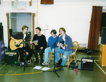 The band in their schooldays (Chris is on the far left)