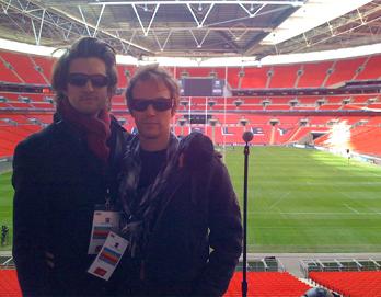 Chris and George at Wembley Stadium