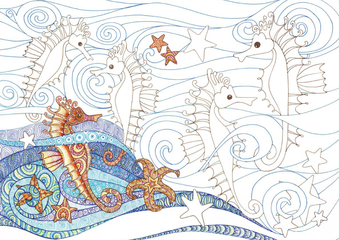 colour therapy an anti stress colouring book free pattern downloads whsmith blog - Animal Anatomy Coloring Book