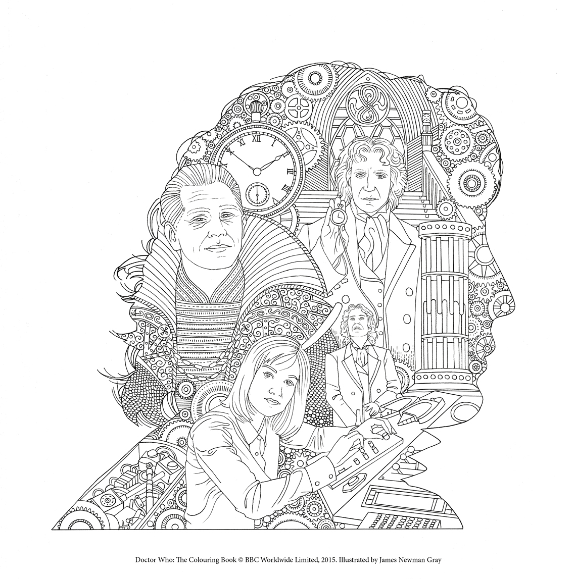 Adult coloring book with quotes - Doctor Who The Colouring Book Free Pattern Downloads Whsmith Blog