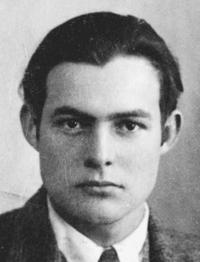 Ernest Hemingway's passport photograph, taken in 1923.