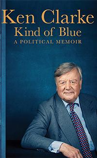 Ken Clarke signing Kind of Blue: A Political Memoir