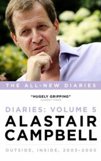Alastair Campbell signing his new Diaries