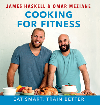 James Haskell signing Cooking for Fitness