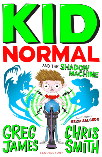 Greg James and Chris Smith signing Kid Normal & the Shadow Machine