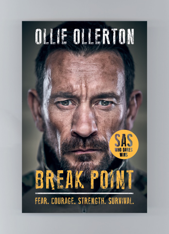 Ollie Ollerton signing Break Point: Fear. Courage. Strength. Survival – EXPIRED