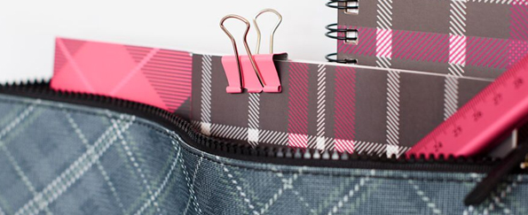 New! Tartan Clash Back to School Stationery