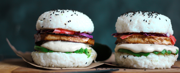 So Beautifully Real: Sushi Burger with Teriyaki Tofu Steak Recipe
