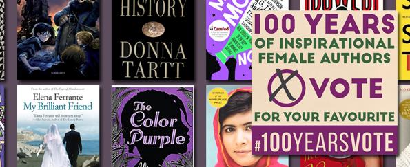 Celebrating 100 Years of Inspirational Female Authors #100YearsVote