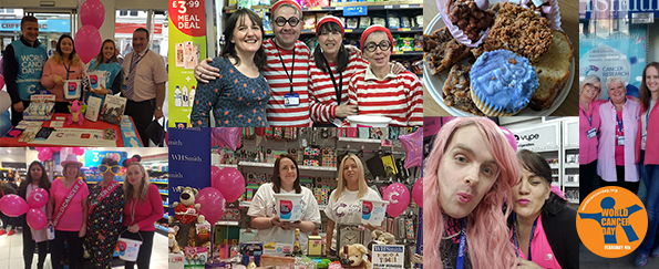 Pyjamas, Cakes and Feather Boas: WHSmith Staff Fundraise for World Cancer Day