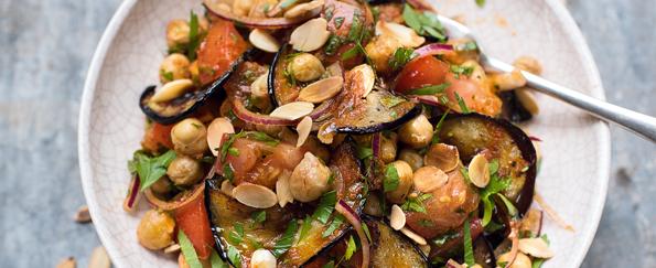 Amelia Freer: Chickpea and Aubergine Salad Recipe
