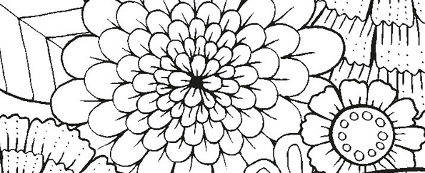 Relaxed and Focused Colouring Free Pattern Download