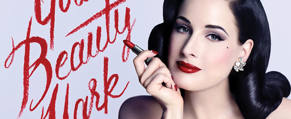 Dita Von Teese: Half Moon Nail Art from Your Beauty Mark: The Ultimate Guide to Eccentric Glamour