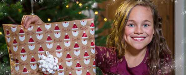 The UK's Champion Child Gift Wrapper 2016