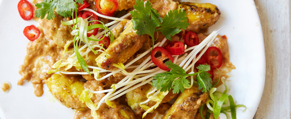 Ching-He Huang: Satay Chicken Stir-fry with Spicy Coconut Peanut Sauce Recipe