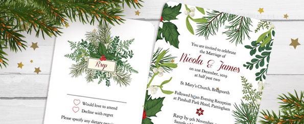 Tree of Hearts: 4 Perfect Winter Wedding Stationery Themes