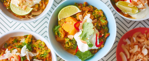 Elly Pear: Sweet Potato, Lentil, Kale and Coconut Curry Recipe