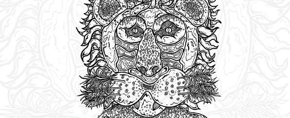 The Great British Bake Off Colouring Book Free Pattern Download: Lion's Head Bread