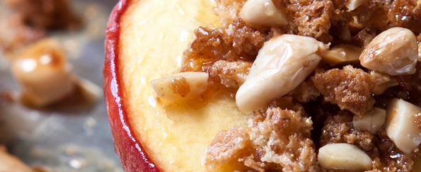 The Hairy Dieters Baked Peaches Recipe