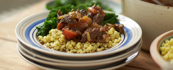 Jamie Oliver: Beef and Guinness Stew, English Mustard Pearl Barley Recipe