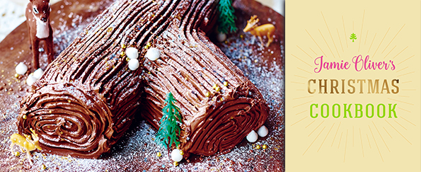 Jamie Oliver: Chocolate Log, Sweet Chestnut Purée, Honeyed Cream & Crushed Honeycomb Filling Recipe