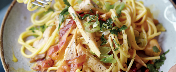 Joe Wicks: Chicken Carbonara Recipe