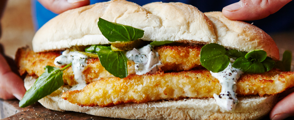 Joe Wicks: Phat Fish Finger Sandwich Recipe