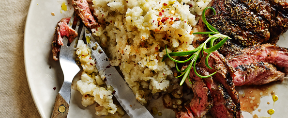Madeleine Shaw: Grilled Lamb Rump with Rosemary Cauliflower Mash Recipe