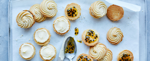 Martha Collison: Passionfruit Viennese Whirls Recipe