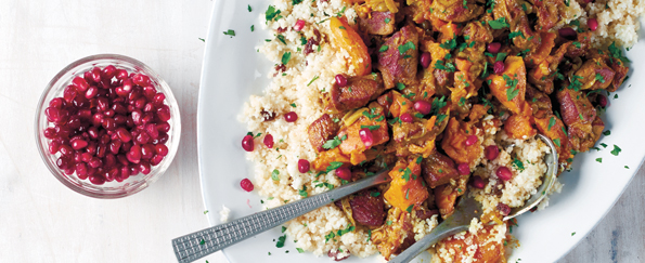 Lizzie Loves Healthy: Moroccan Spiced Lamb Tagine and Cauli-Couscous Recipe