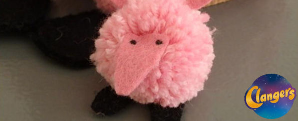 How to Make Your Own Clangers Pom-Pom Toy