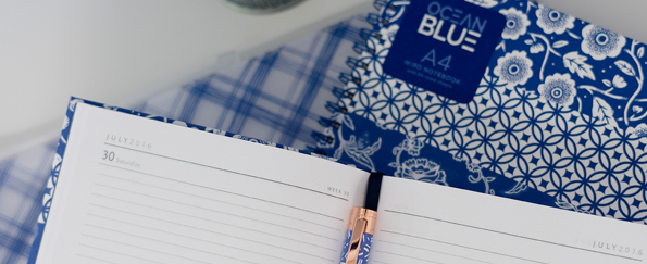 New! Add Sophistication to Your Desk with our Ocean Blue Stationery