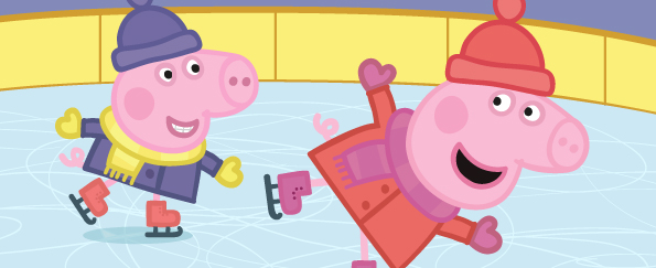 Peppa Pig Goes Ice Skating Free Colouring Download