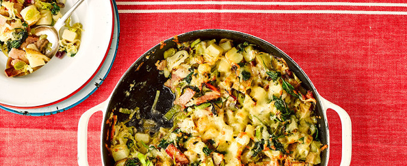Pinch of Nom: Leek and Bacon Tartiflette Recipe