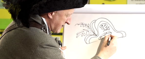 Jonny Duddle Demonstrates How to Draw a Pirate