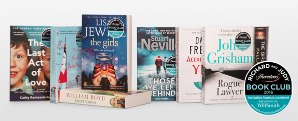 Vote Now For Your Richard and Judy Summer Book Club 2016 WINNER!