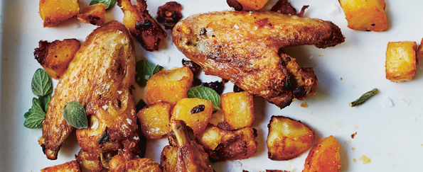 Jose Pizarro: Roasted Chicken Wings with Roast Potatoes, Parsley & Garlic Recipe