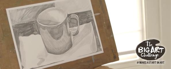 Make a Start in Art: Orange Cup in Graphite Sticks