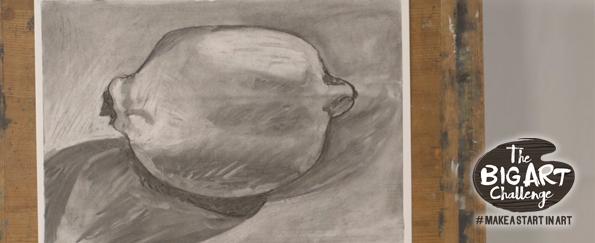 Make a Start in Art: Lemon in Charcoal