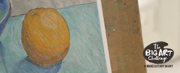 Make a Start in Art: Orange and Bowl in Charcoal and Pastels