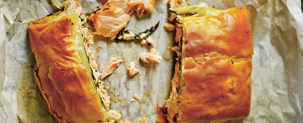 The Medicinal Chef: Salmon and Spinach Filo Parcel Recipe