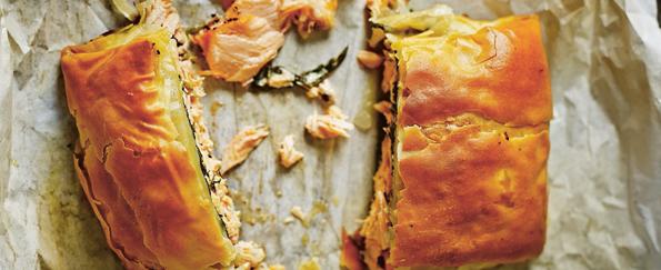 The Medicinal Chef: Salmon and Spinach Filo Parcel Recipe