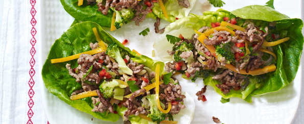 The No Time to Cook Book: Thai-Style Stir-Fried Beef in Lettuce Cups Recipe