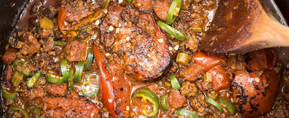 Tom Kerridge: Spicy Chilli with Green Beans Recipe